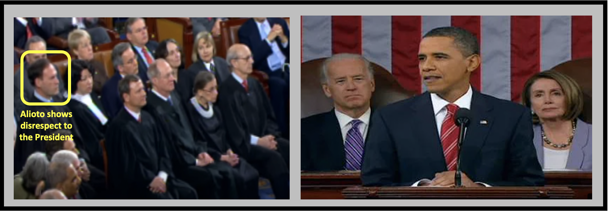 Alioto disrespects the President Obama during the 2010 State of the Union