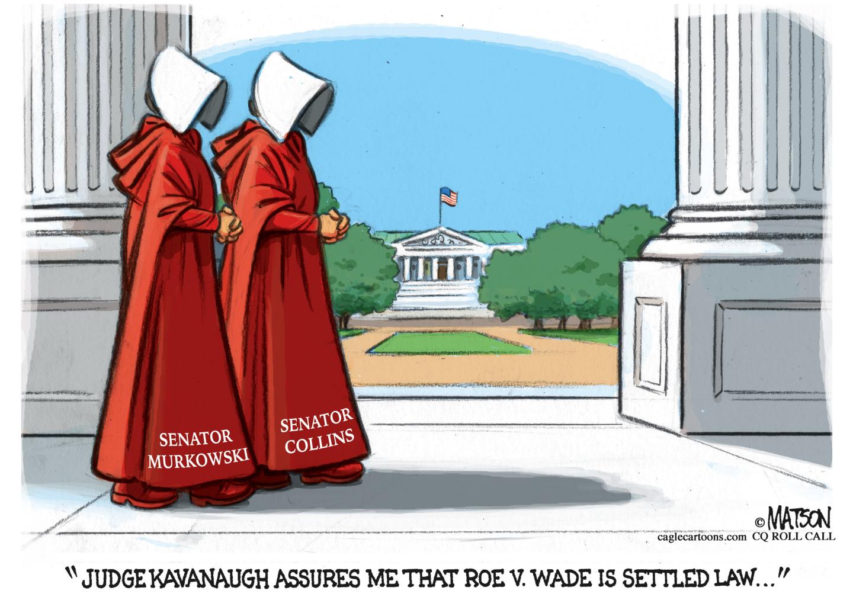 Handmaids Senators voted for Kavanaugh.