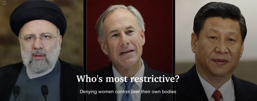Republicans deny women control over their own bodies putting America behind China, Cuba and Iran in terms of women's reproductive healthcare