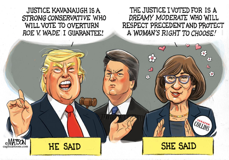 Susan Collins votes for Kavanaugh.